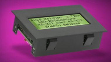 Display with RS-232 ELECTRONIC ASSEMBLY